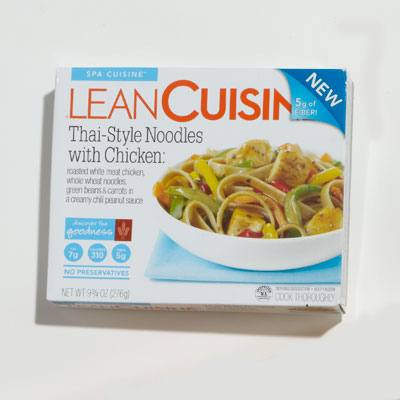 Frozen Entree: Lean Cuisine Thai-Style Noodles with Chicken