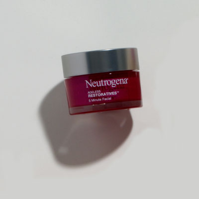 Exfoliator: Neutrogena 5 Minute Facial from Ageless Restoratives