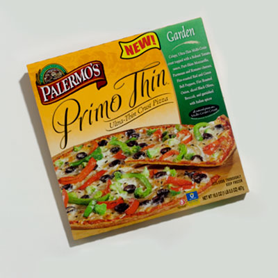 Frozen Pizza: Palermo's Primo Thin Garden Pizza