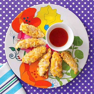 Crunchy chicken fingers: Nutrition & calories