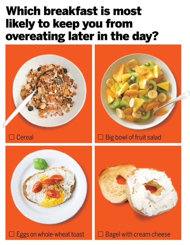 Health quiz which is a better breakfast health answer eggs on whole wheat toast in one study of overweight subjects egg eaters consumed roughly 420 fewer calories over the next 24 hours than those who forumfinder Image collections