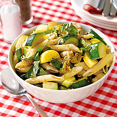 Pasta Salad With Eggplant, Zucchini, and Squash