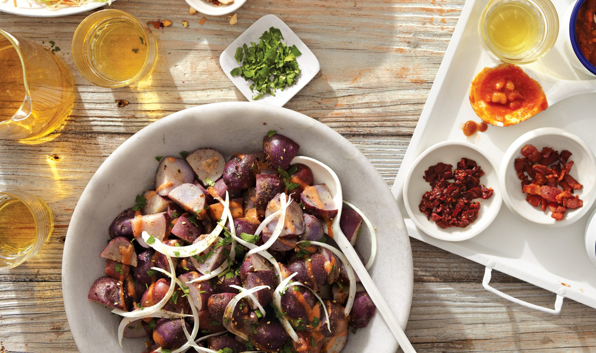 Purple Potato Salad With Za'atar
