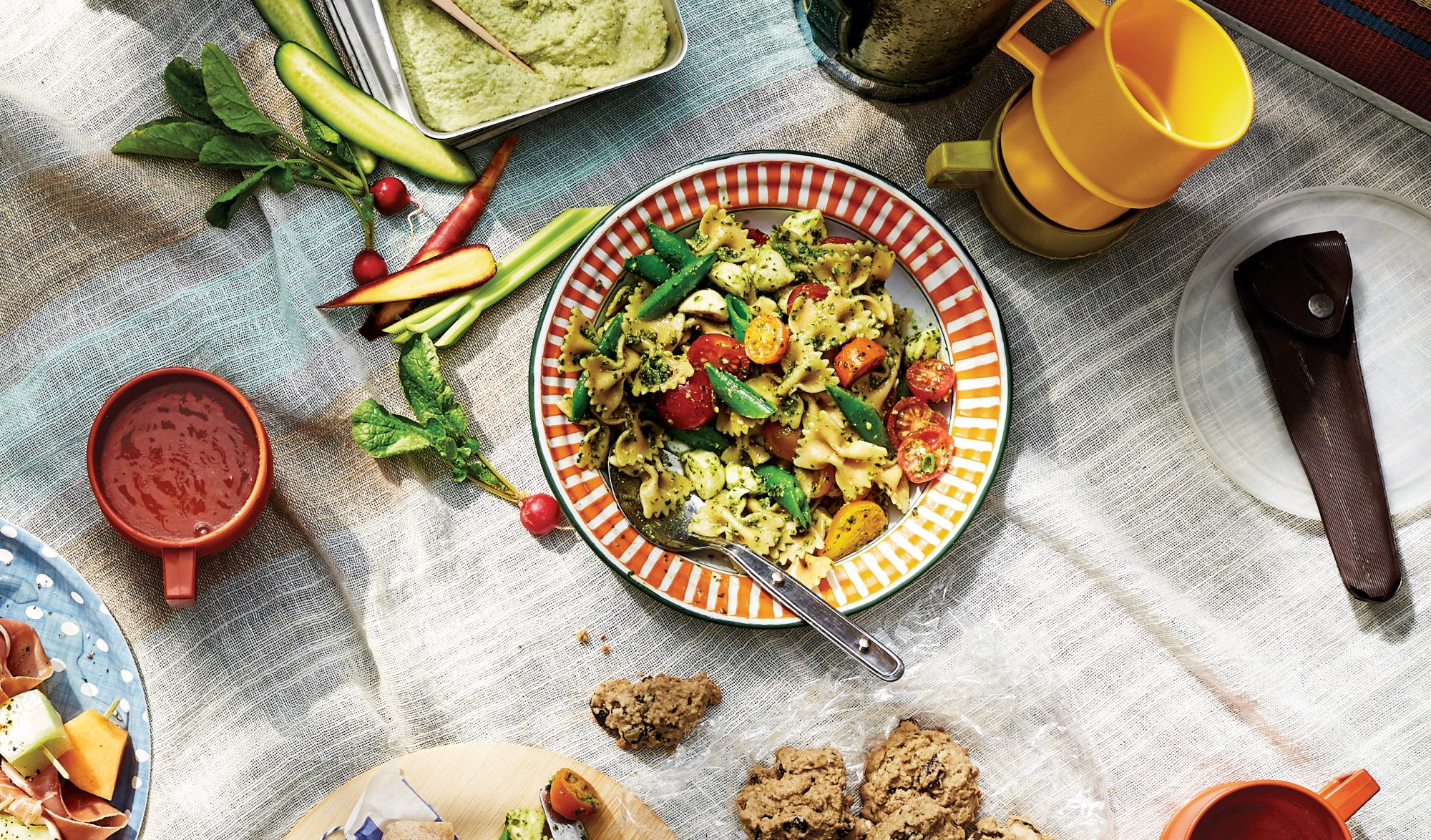 summer-basil-pesto-pasta-picnic-recipes