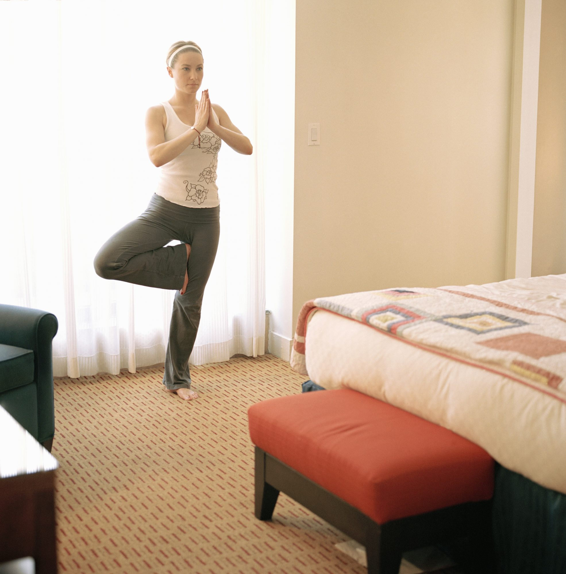 Turn your hotel room into a gym