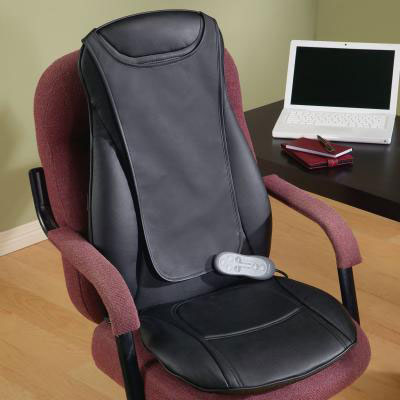 Shiatsu massaging seat cushion