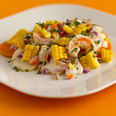 Colorful Corn-Shrimp Saute