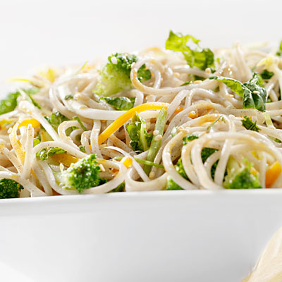 Crispy Broccoli With Rice Noodles