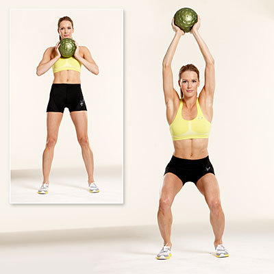 Overhead Ball Squats