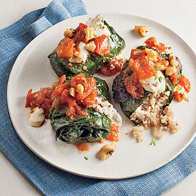quinoa-stuffed-kale-rolls-goat-cheese-quinoa-recipes