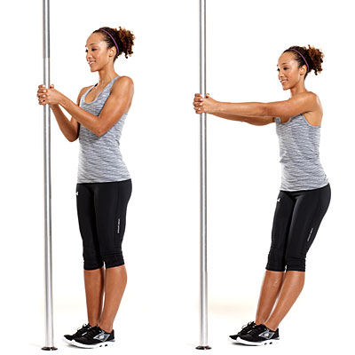 Tone up in town: Standing back row