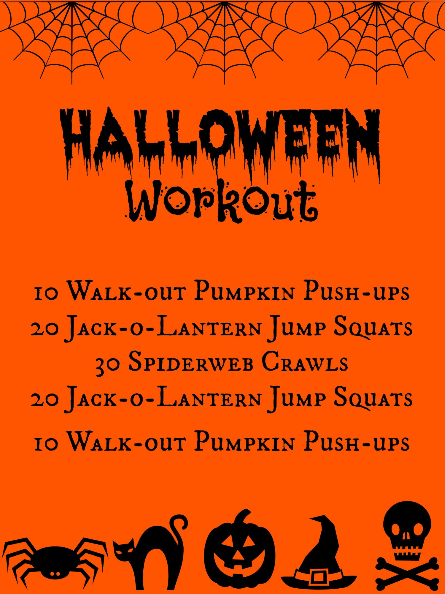 walk out pumpkin push ups - Show Me Halloween Pictures