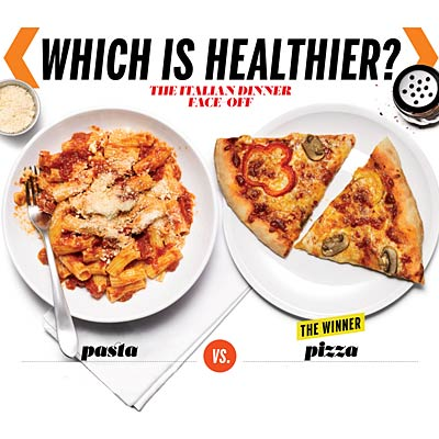 Which is healthier: Pasta or veggie pizza?