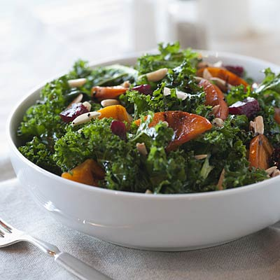Survive cold season: Kale, spinach, yams, pumpkin, carrots