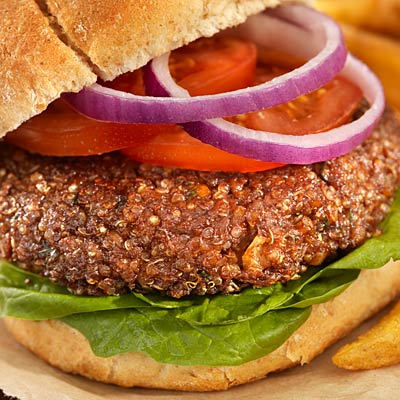 Add texture to a burger
