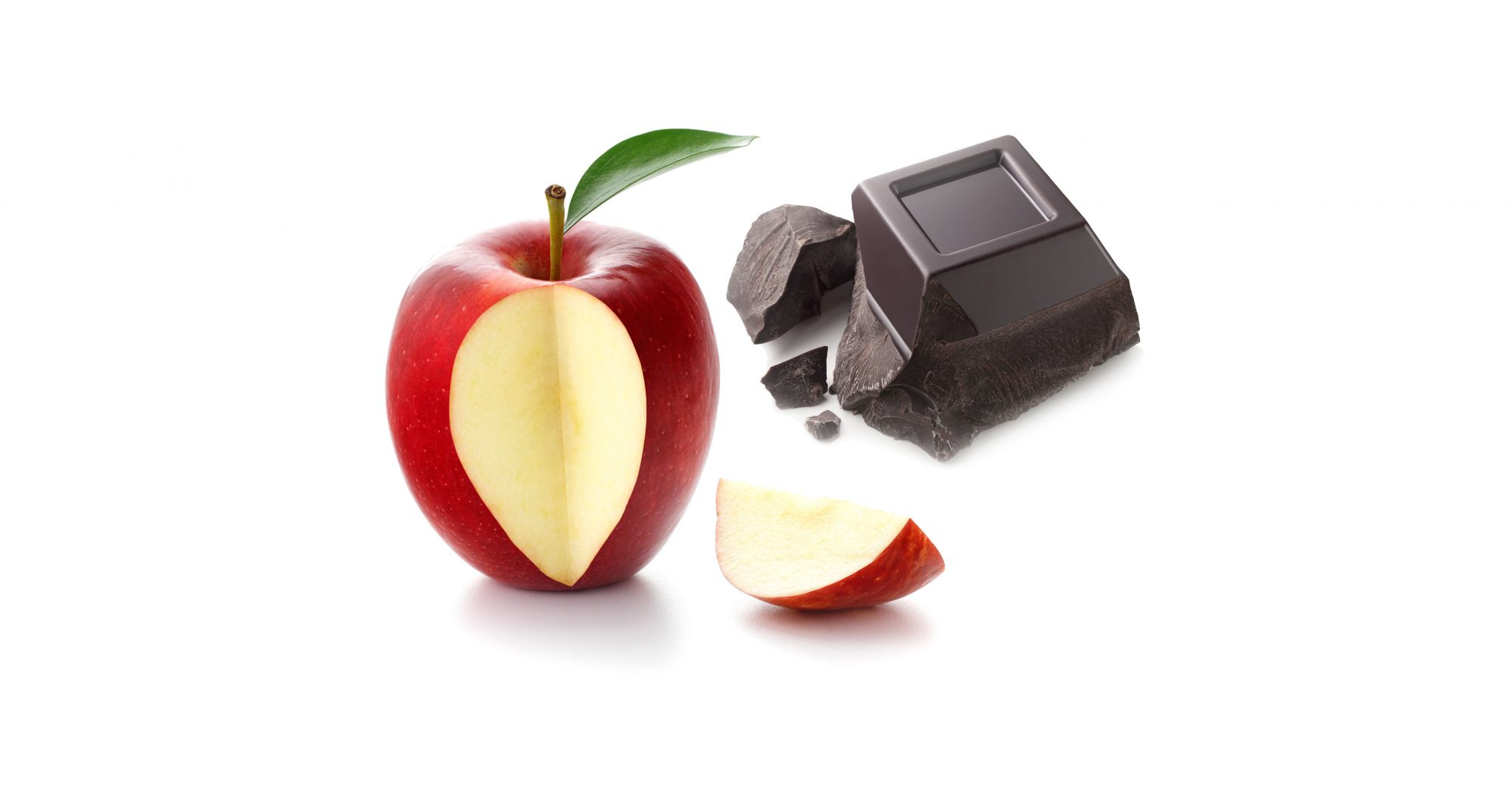 Dark chocolate + apples
