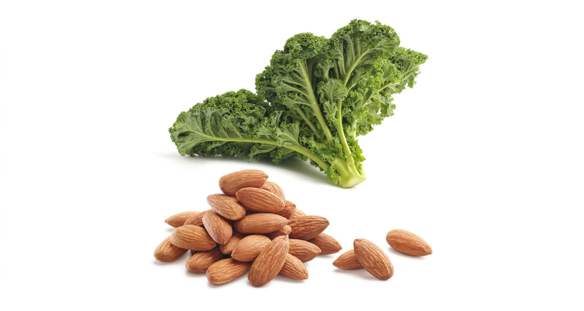 Kale + almonds