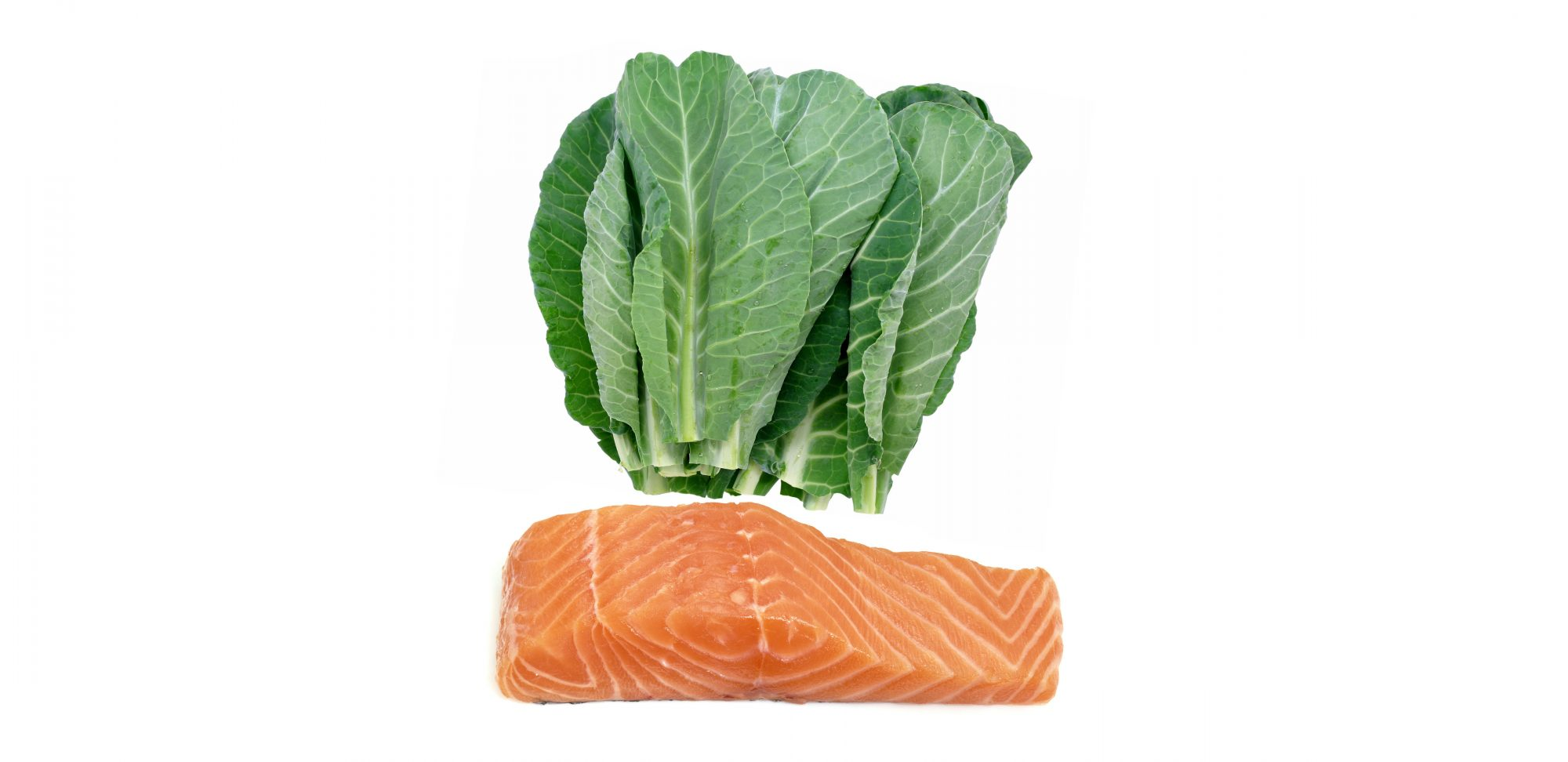 Salmon + collard greens
