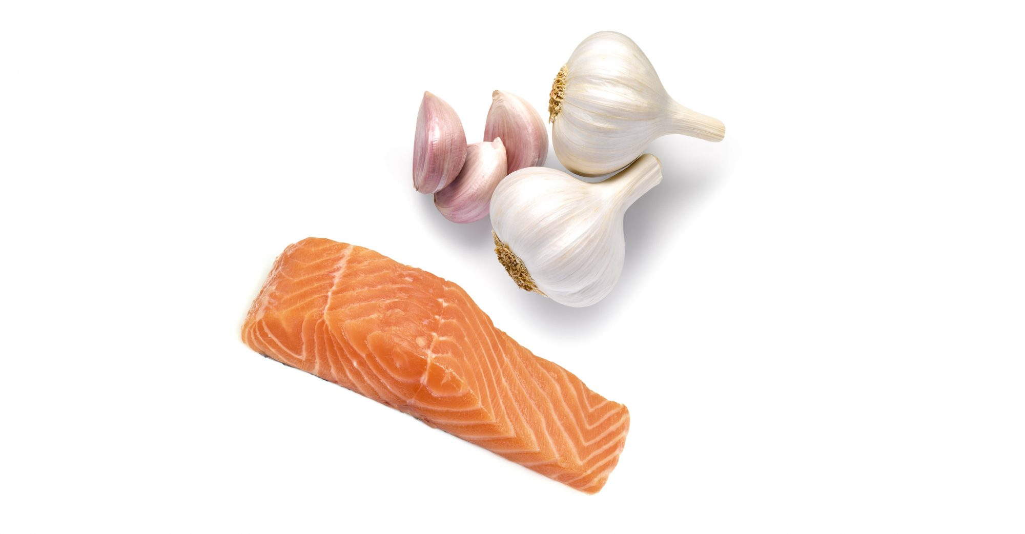 Garlic + salmon