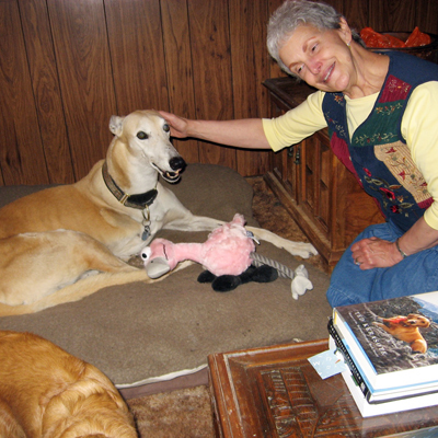 My greyhound and I nursed each other back to health