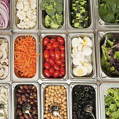 Salad bars and prepared salads