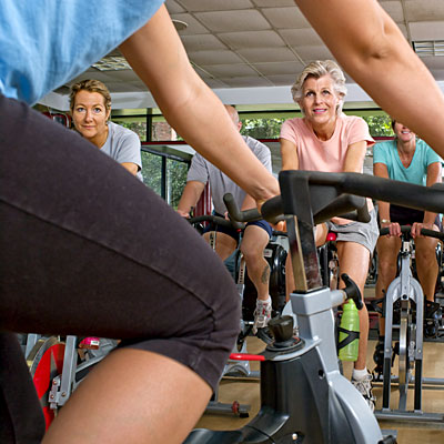 Don't set the bike seat too low in spin class