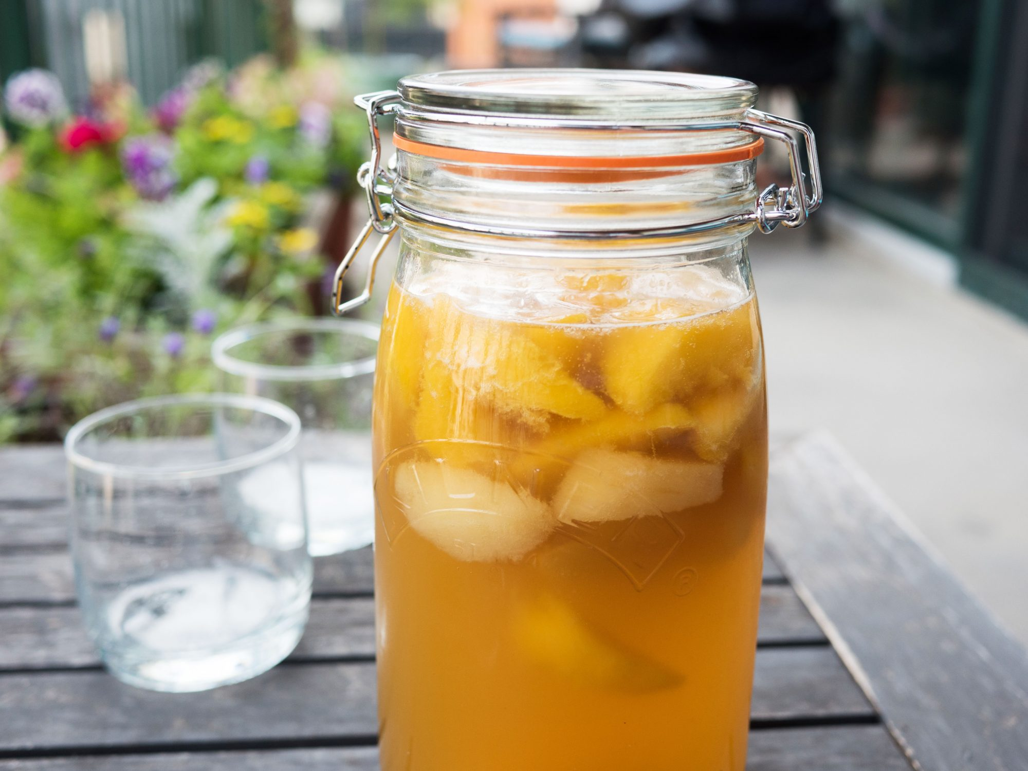 This Sparkling Peach Sangria Recipe Is Just What Your Brunch Needs