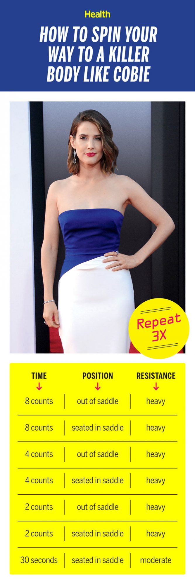 How to Spin Your Way to a Killer Body Like Cobie Smulders