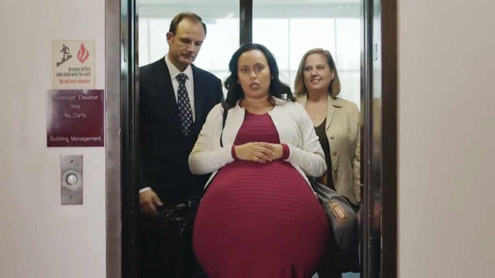 See a 260-Week-Pregnant Woman Manage Her Workday (So Many Bathroom Trips!) in PSA for Paid Maternity Leave - Health