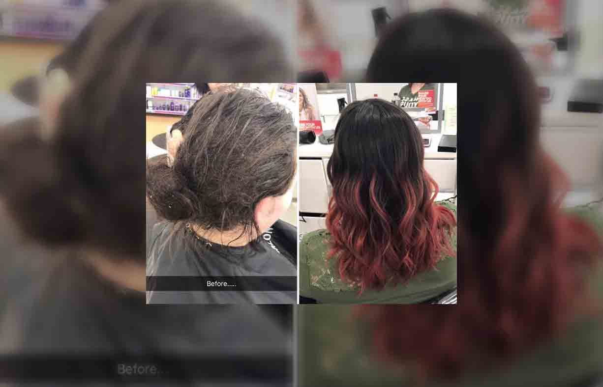 A Hairdresser S Viral Before And After Photos Of A Client