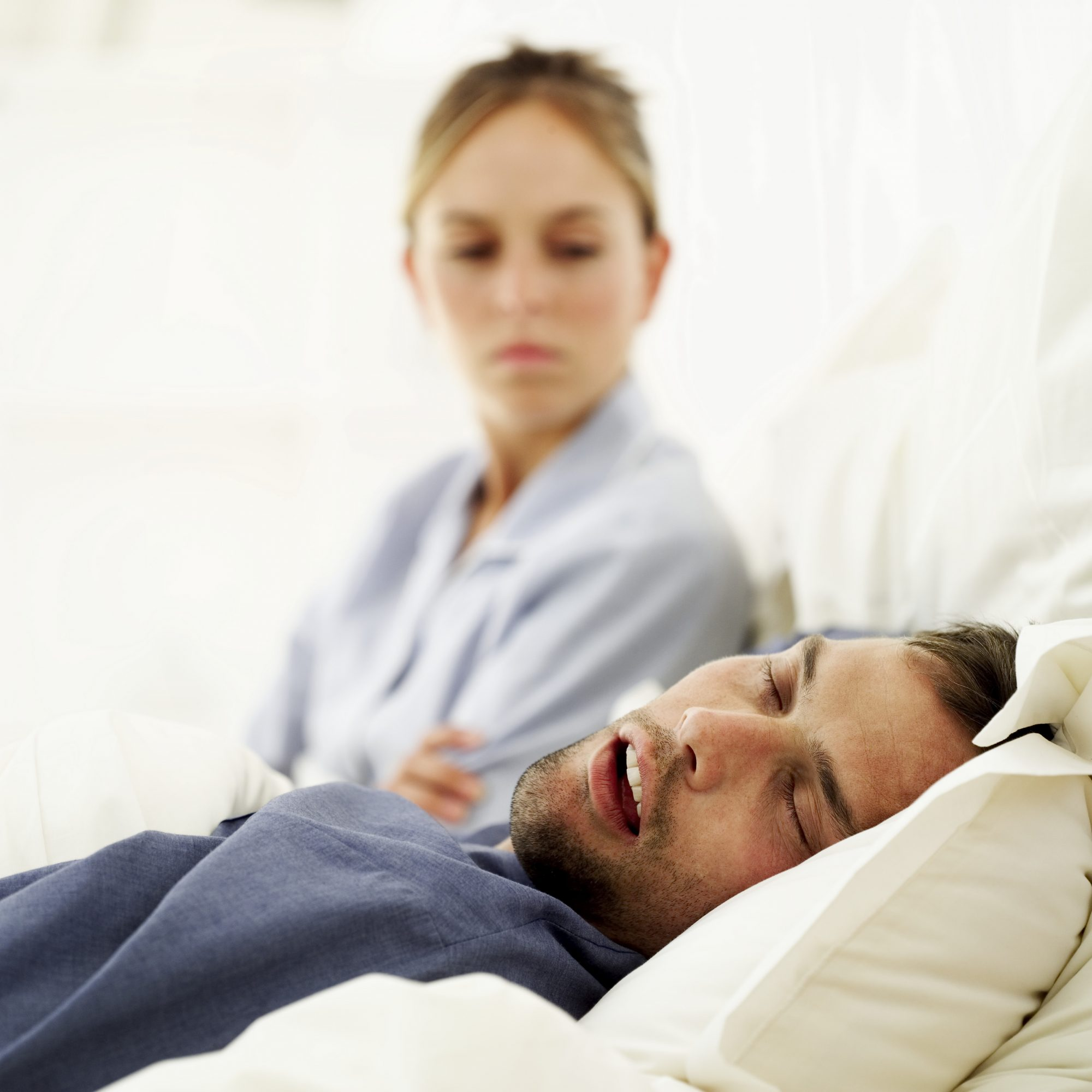 Your partner's snoring leaves you staring at the ceiling