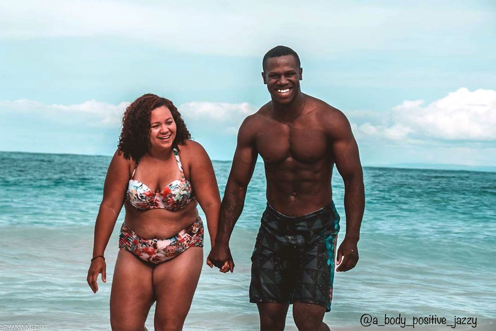 This Woman's Super-Fit Husband Helped Her Learn to Love Her Shape: He Has Loved 'Every Roll and Every Stretch Mark'