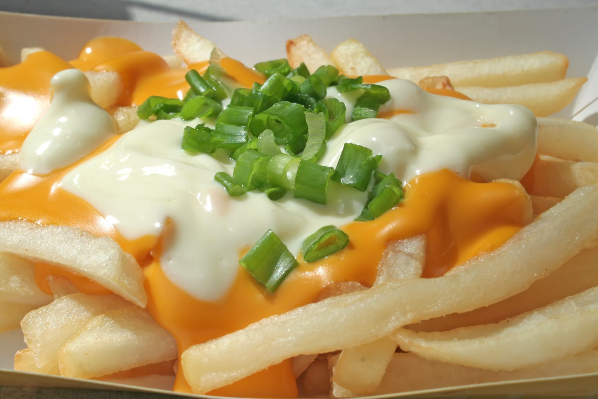 Cheese fries with ranch dressing