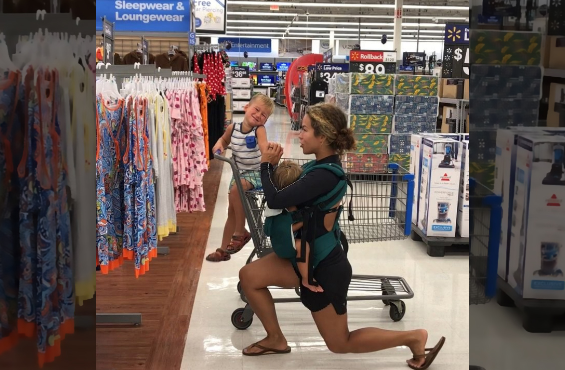 This Mom Got Flack for Working Out at Target—So She Exercised at Walmart and Whole Foods, Too