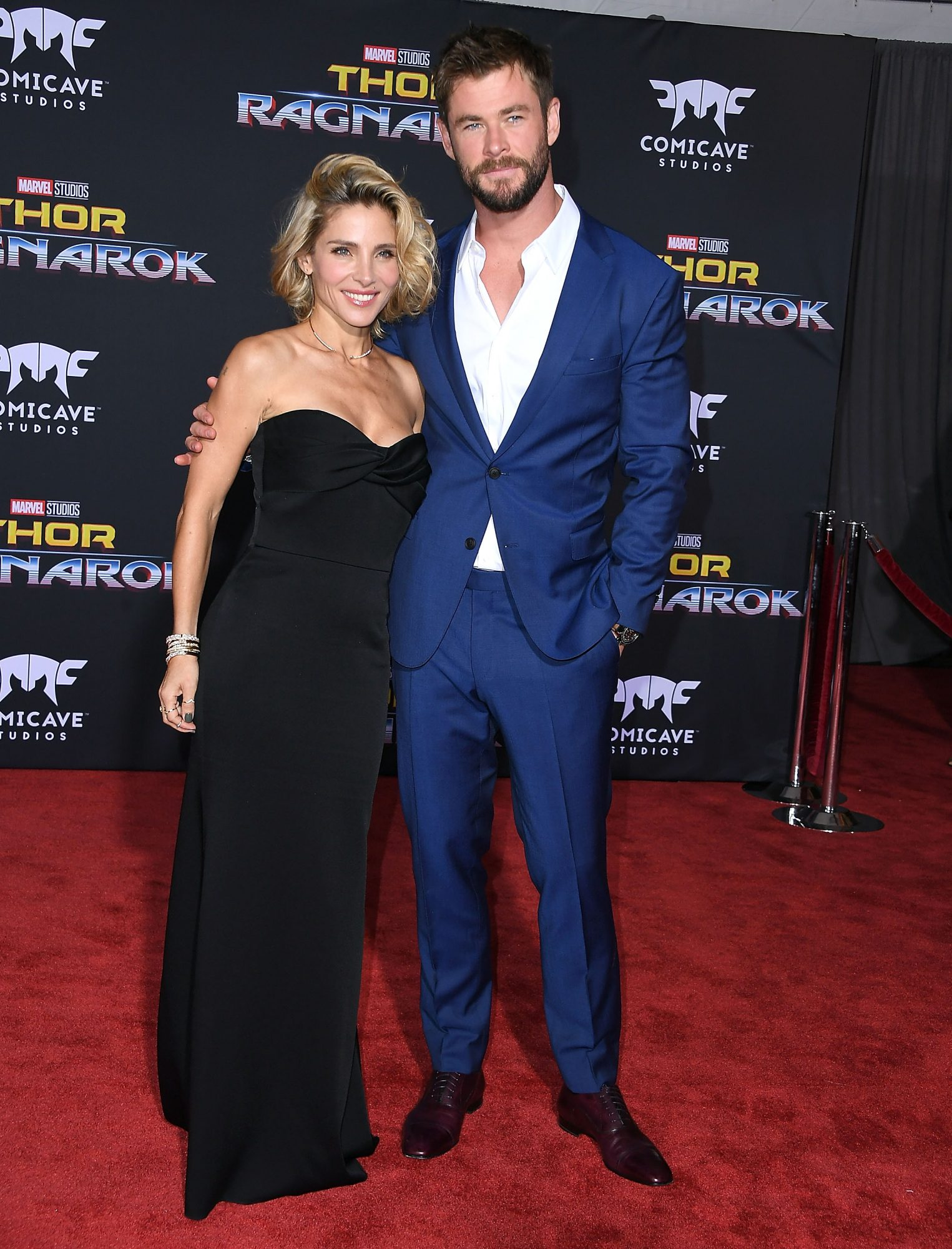 Chris Hemsworth Says Wife Elsa Pataky Is in Better Shape Than He Is at Thor: Ragnarok Premiere