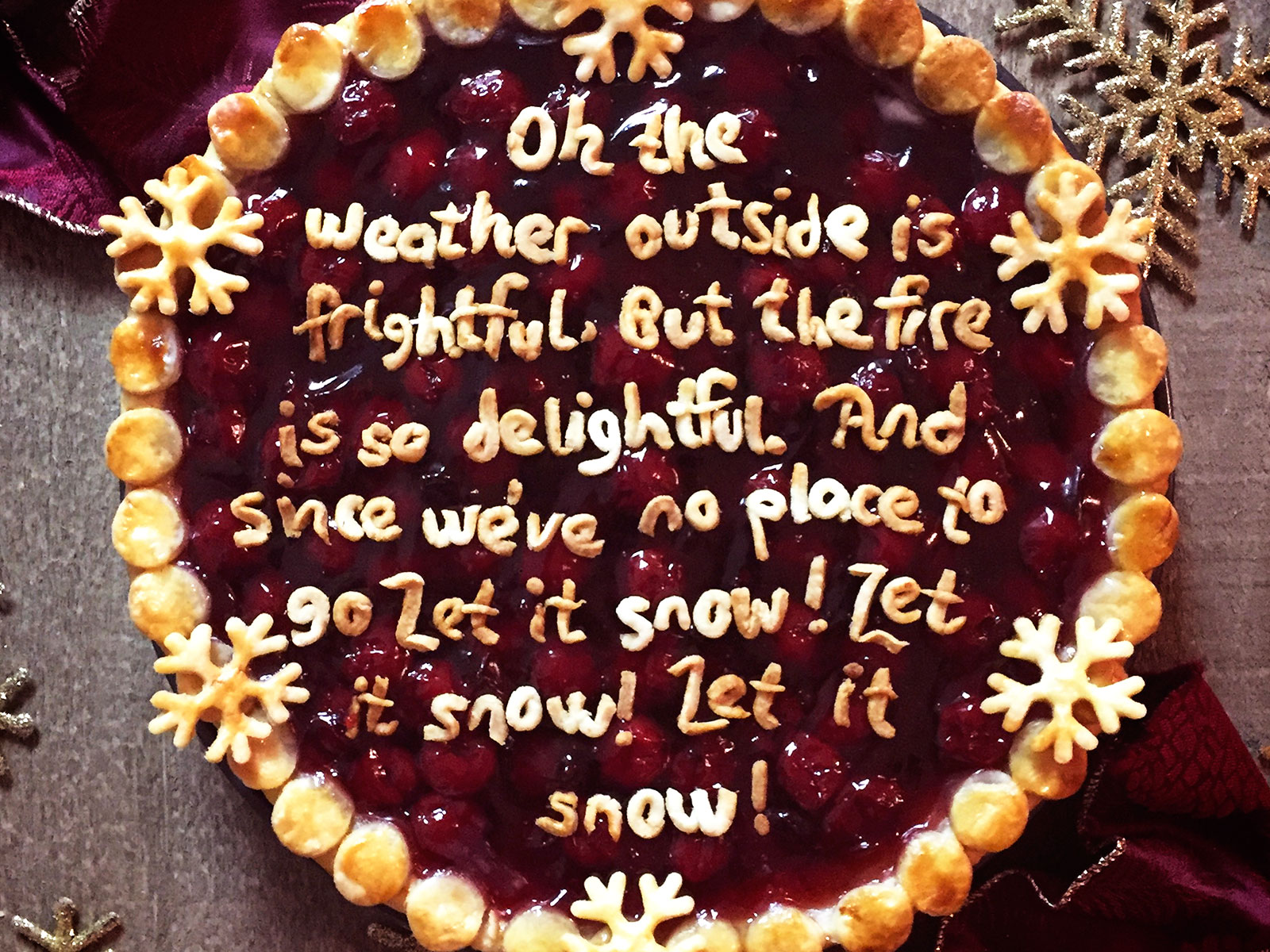 let it snow lyrics on pie
