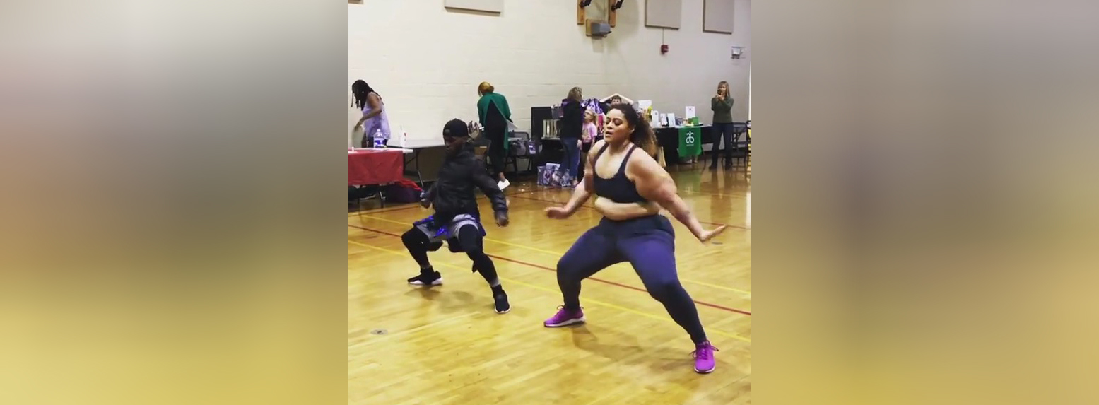 This woman who danced it out, belly rolls and all