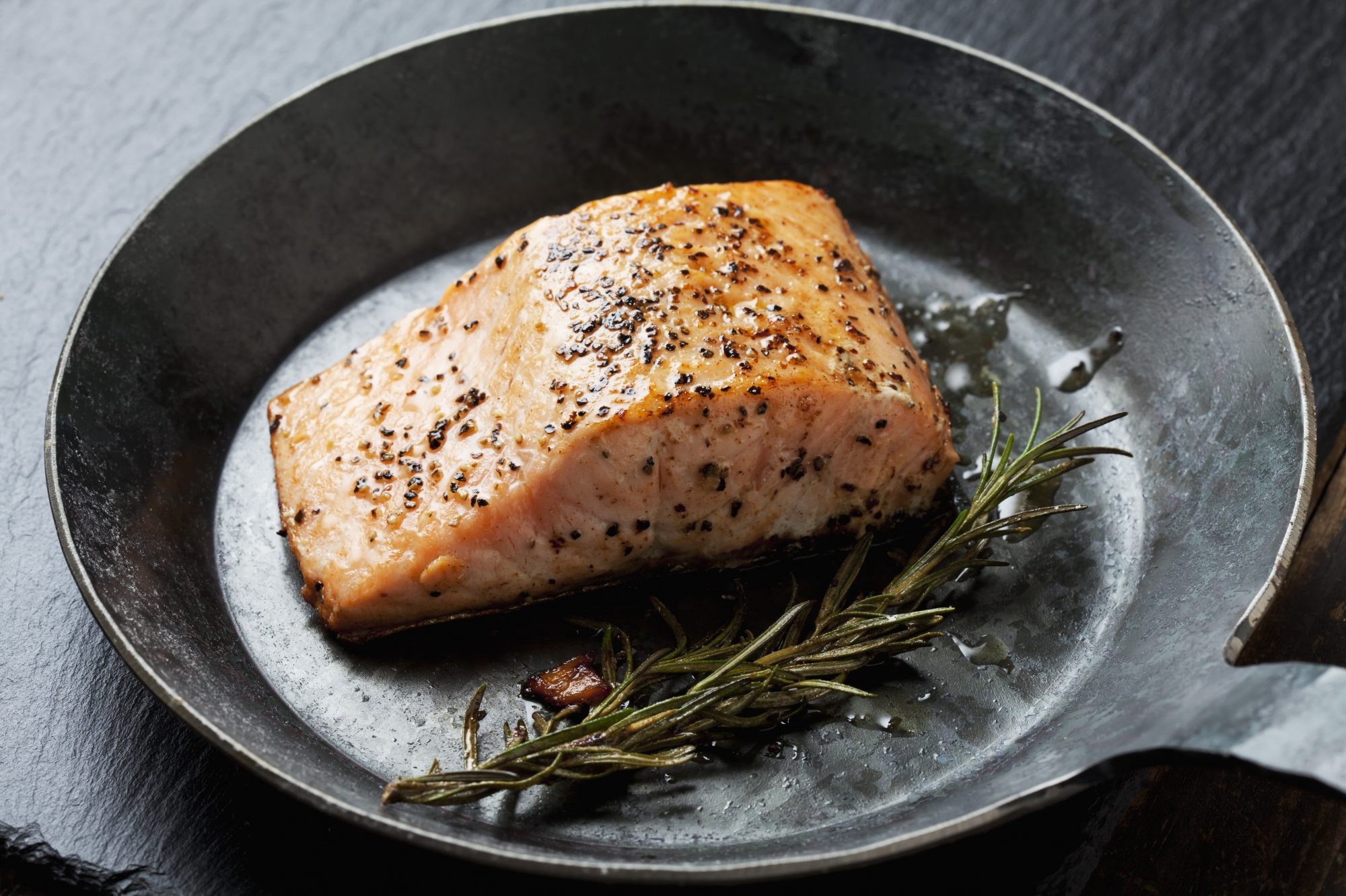 salmon fish brain food healthy eating sauteed
