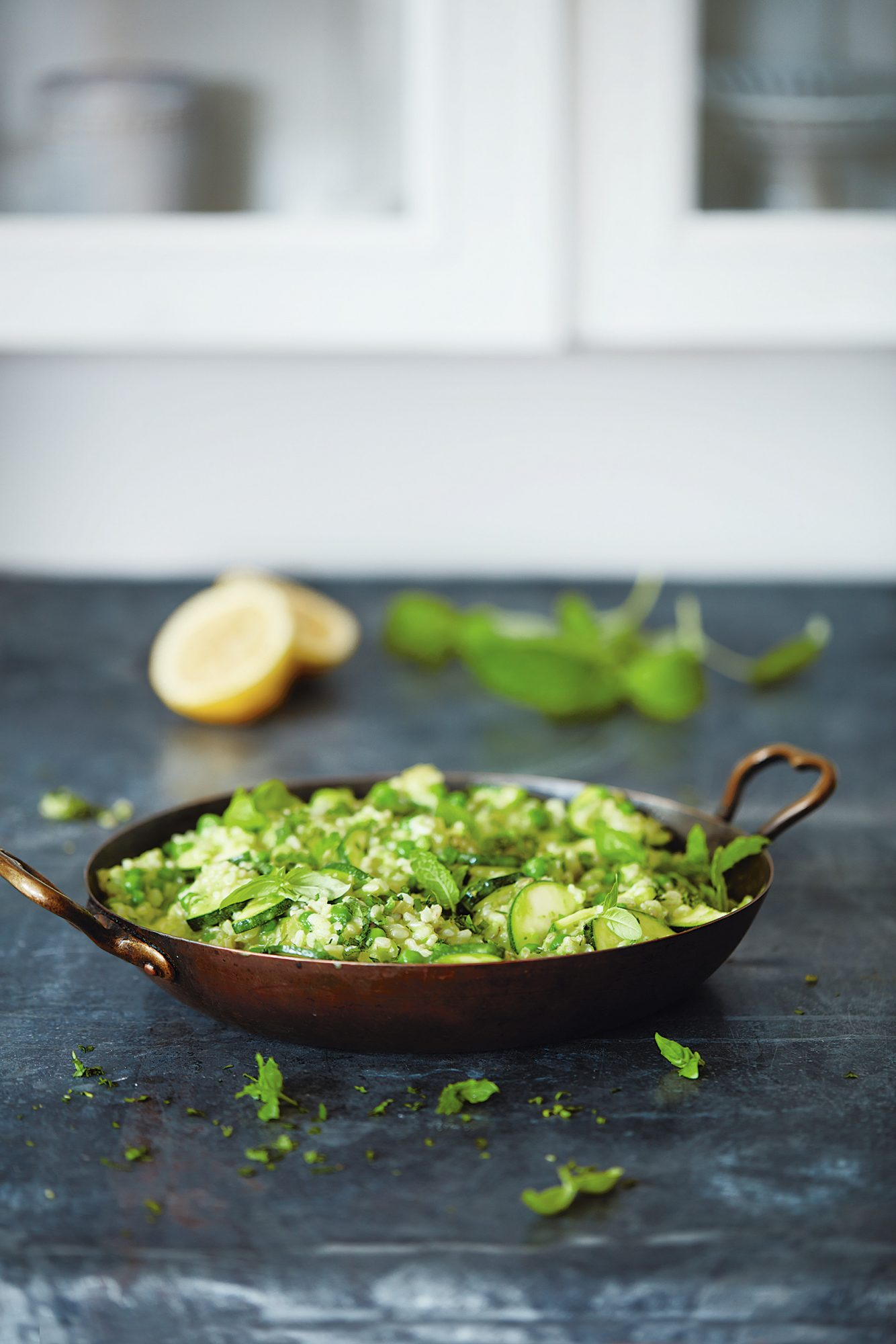 Deliciously Ella Natural Feasts Pea Zucchini and Coconut Risotto recipe
