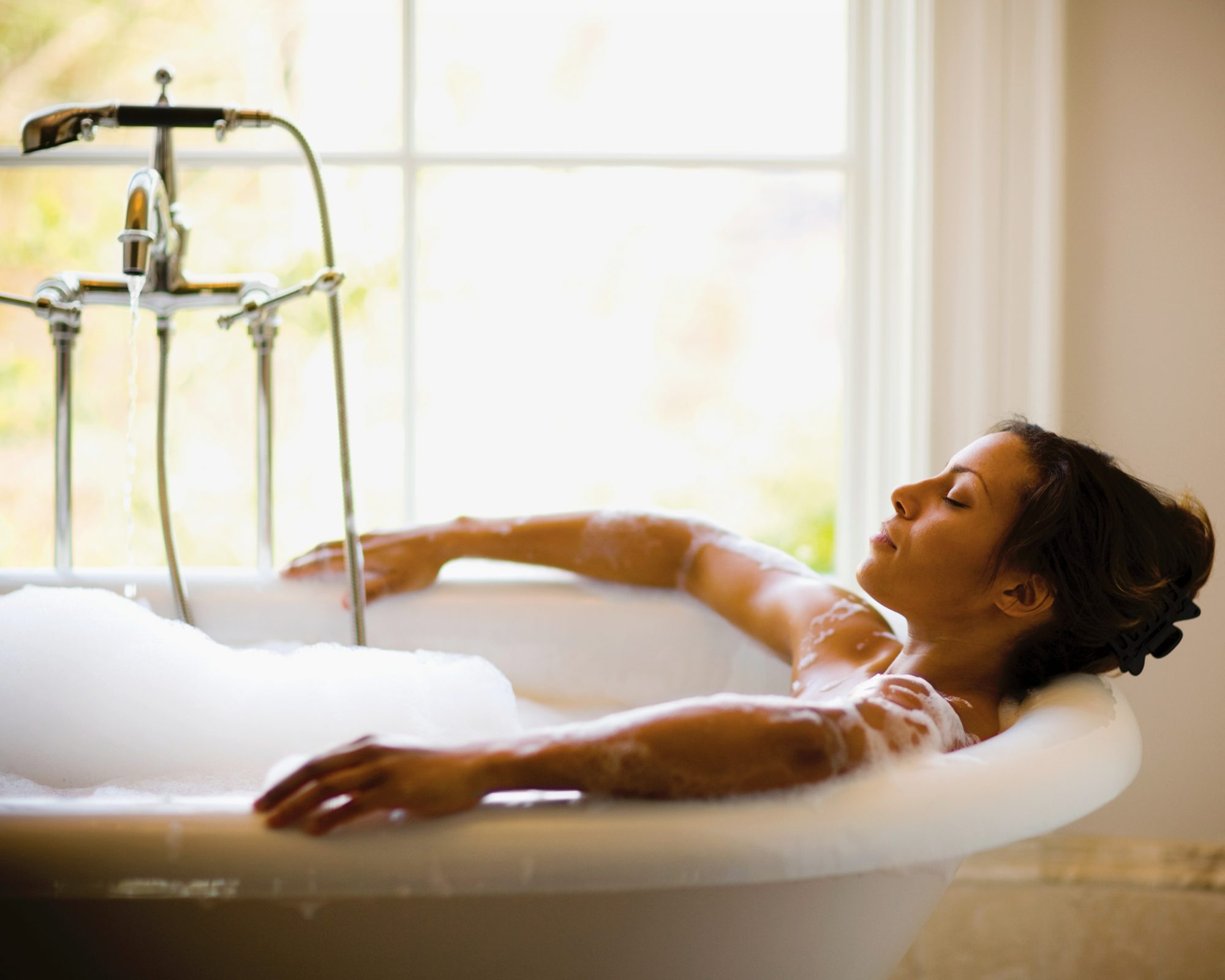 take a bath instead of scrolling through social media to relieve stress