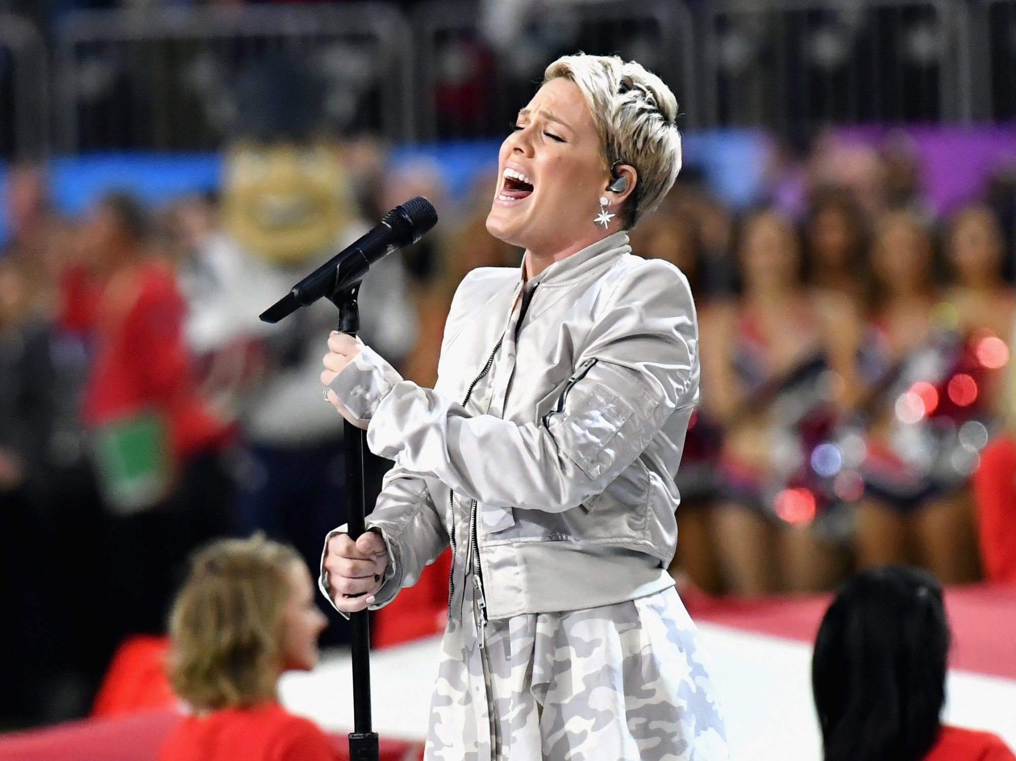 Pink Blasts Twitter Troll for Criticizing Her Super Bowl National Anthem Performance