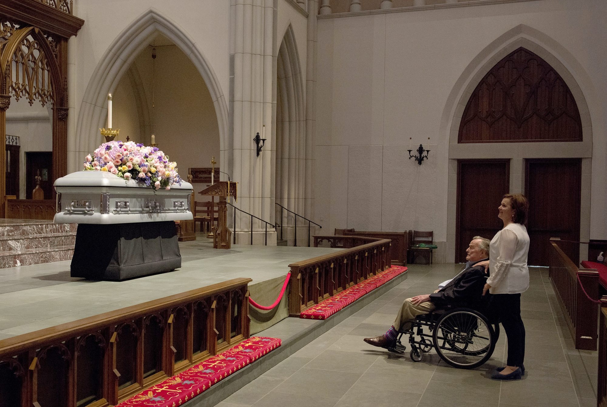 George H. W. Bush Hospitalized Less Than 24 Hours After Laying His Beloved Barbara to Rest