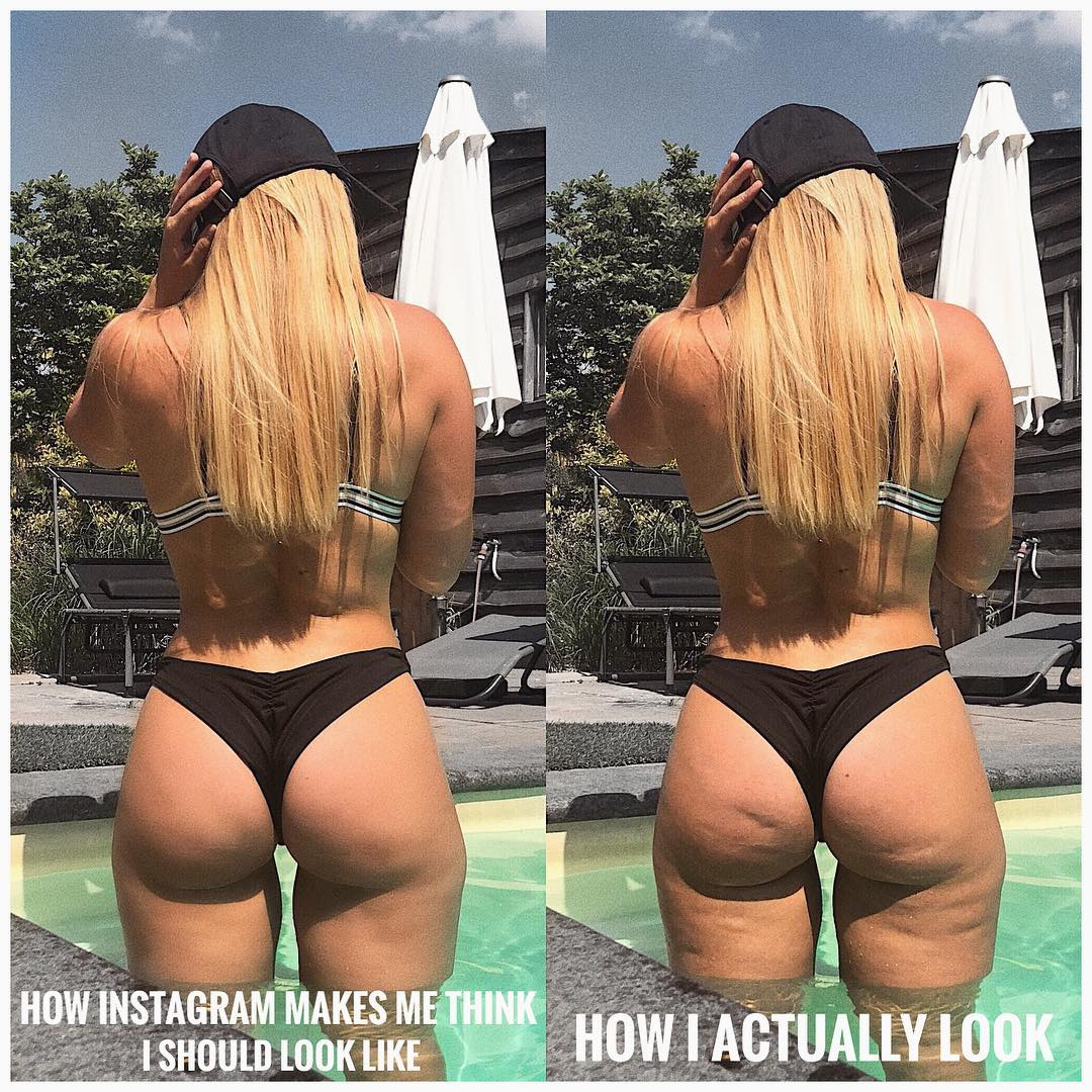 This Woman Shared a Photo of the Cellulite on Her Thighs and Butt to Prove Instagram Is Not Reality