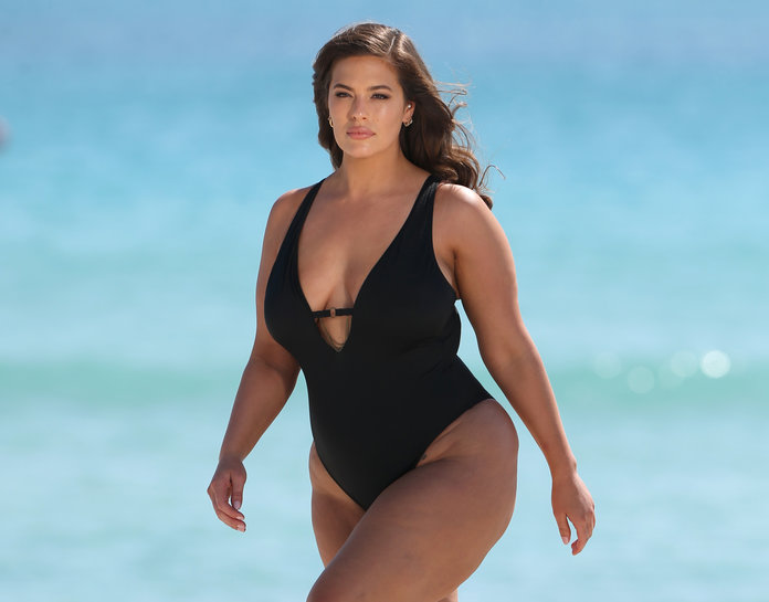 See The Paparazzi Photos Ashley Graham Reused For Her Latest Swim Campaign