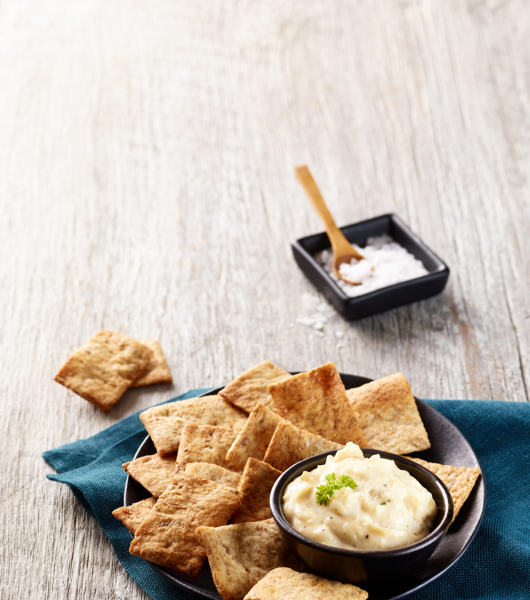 Prepackaged chips and dip