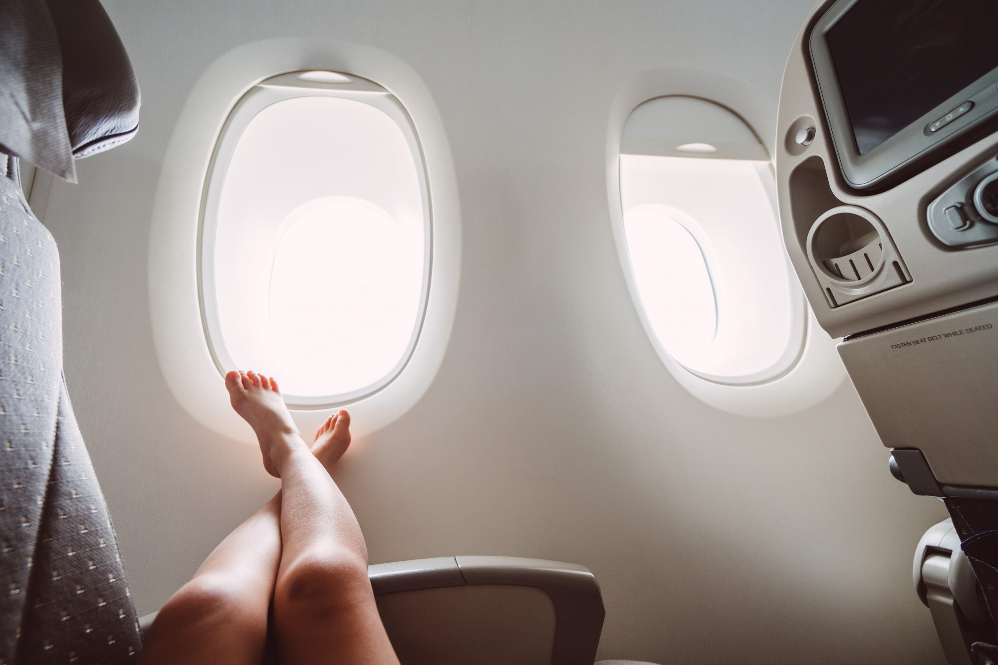 The Scary Reason You Should Wear Compression Socks On Your Next Flight
