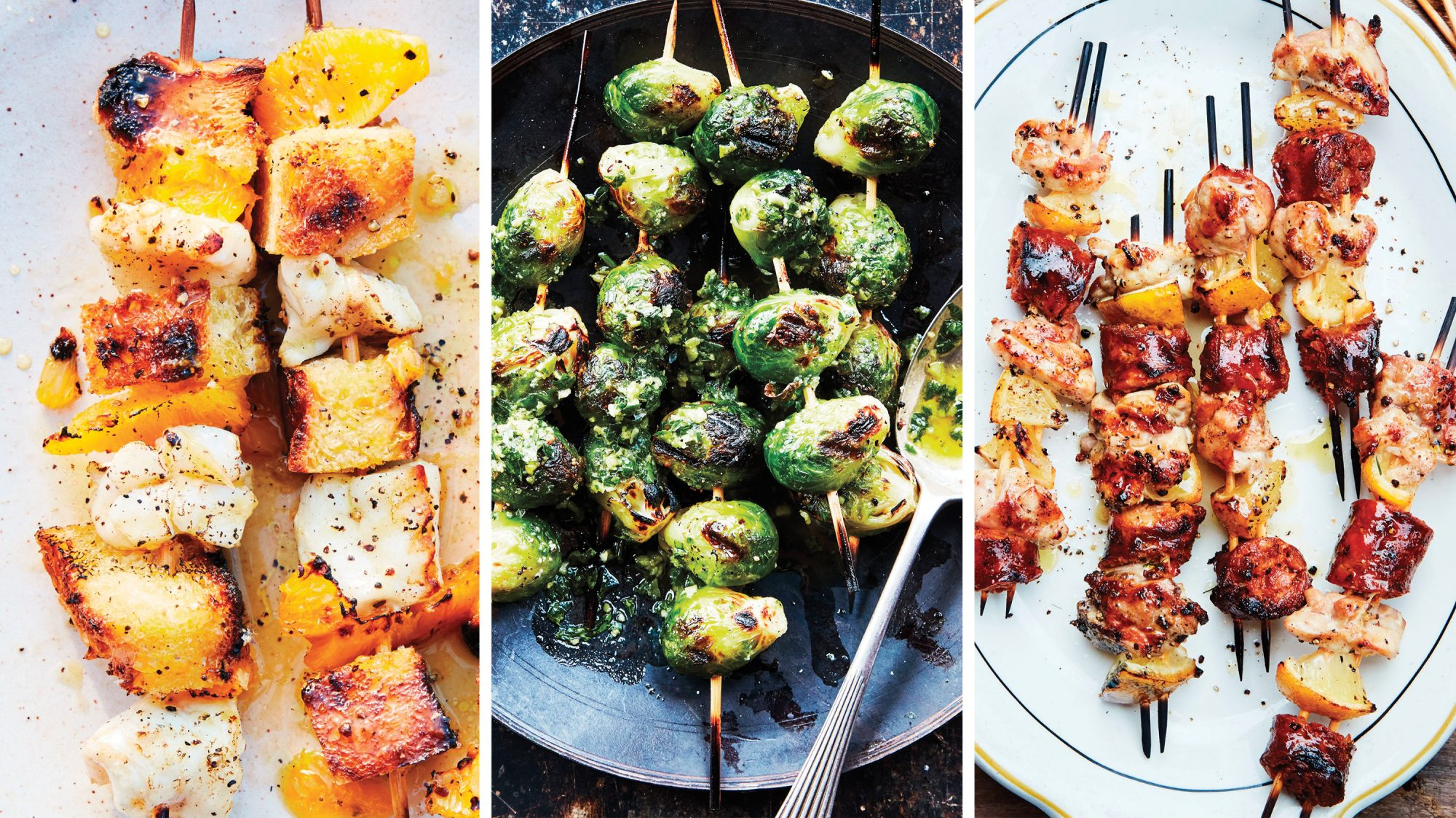 Recipe skewers. Cooking delicious and healthy dishes 49