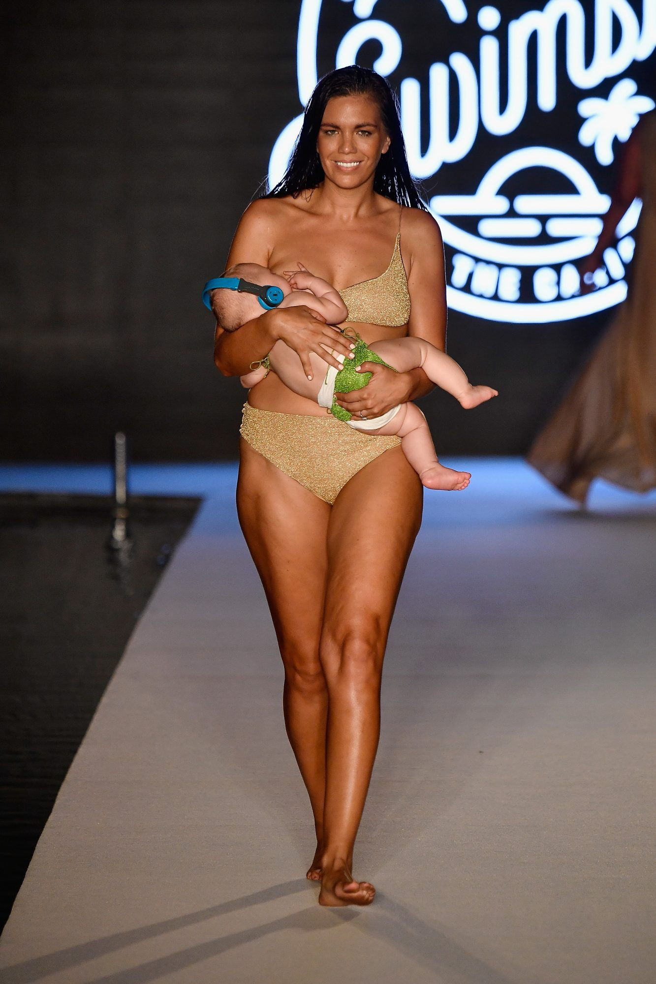 2018 Sports Illustrated Swimsuit at PARAISO During Miami Swim Week, W South Beach - Runway breastfeeding