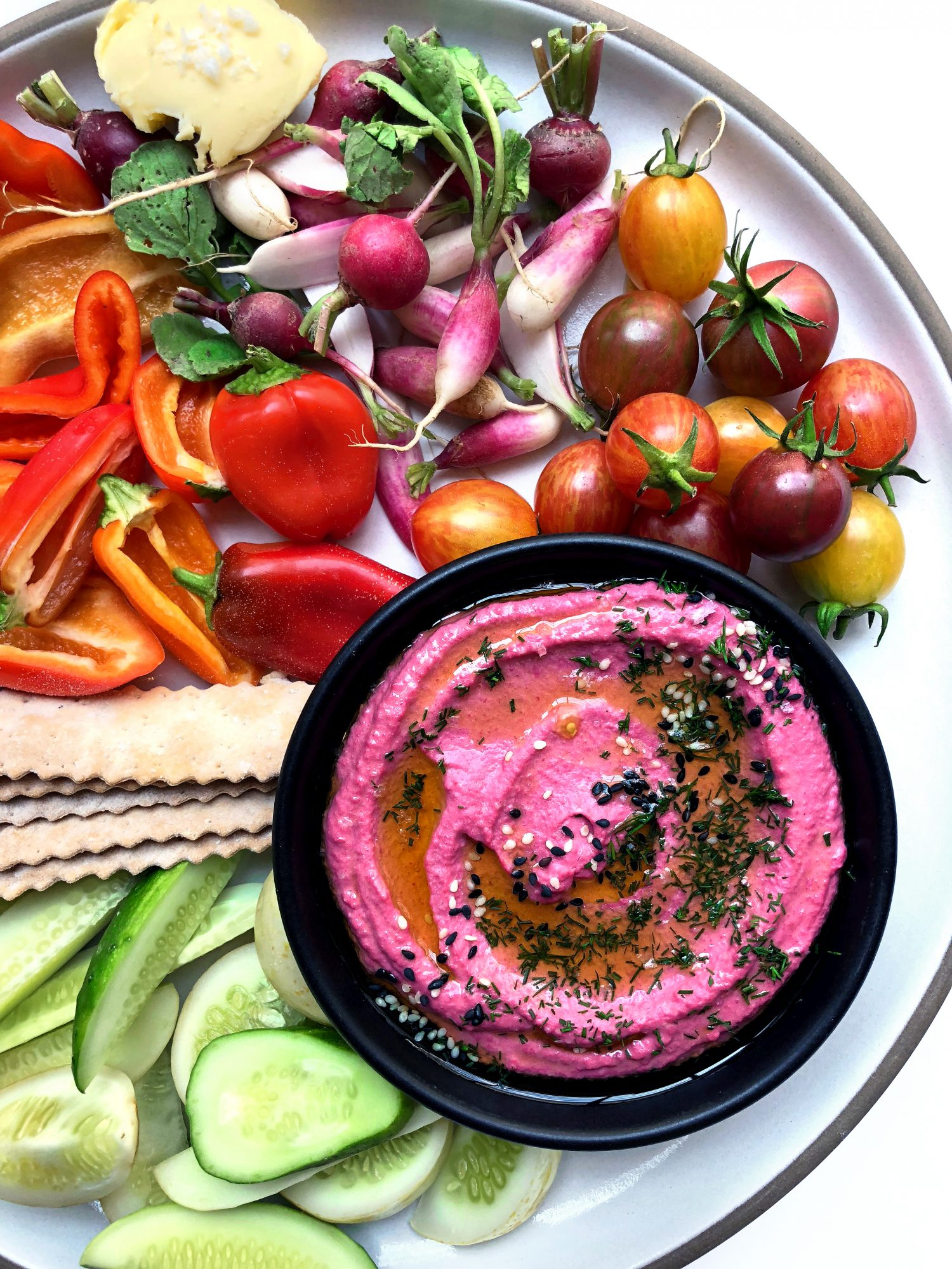 You Won't Believe How Easy It Is to Make This Beet Hummus Recipe