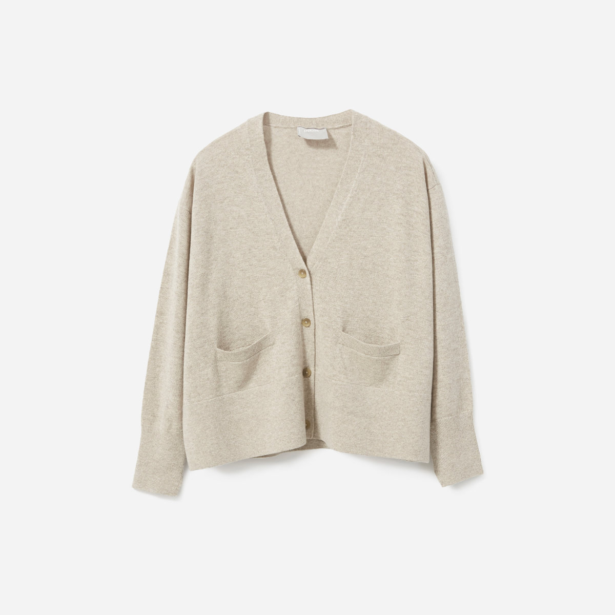 Everlane Cashmere Square V-Neck Cardigan
